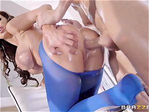 wild lubricated up Nikki Benz thrashed in her butt