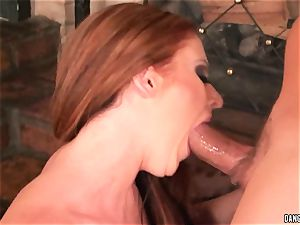 Sophie Dee gullet ravages this stiff pulsating wood