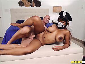 nut deep in police nymph Moriah Mills