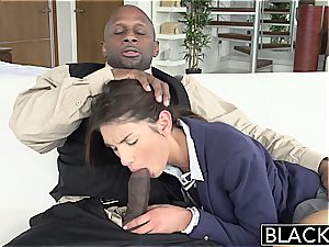 BLACKED Real Model with perfect cupcakes enjoys ebony shaft