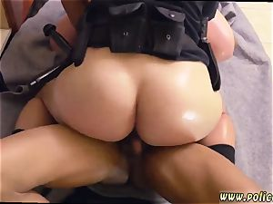 little light-haired first-timer black masculine squatting in home gets our milf officers squatting on his