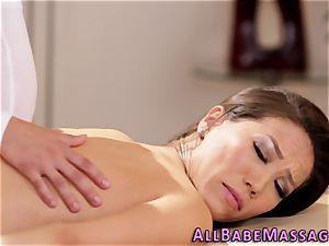 big-chested masseuse finger-tickled