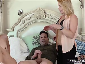 Step daddy peeping on boss crony s daughter-in-law while sleeping hardcore Family hookup Education