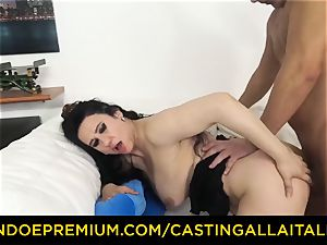 casting ALLA ITALIANA dark-haired nymphomaniac harsh assfuck lovemaking