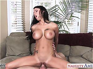 huge-boobed wifey Peta Jensen riding fuck-stick