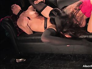 Alison Tyler and Jayden Cole drill each other