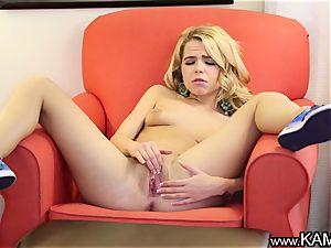 Kam54 Alina gives herself a finger tonguing
