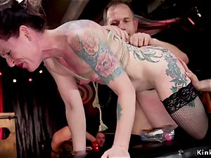 anal sluts servicing guests at bondage & discipline party