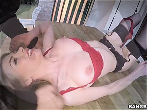 The cute Lolly Gartner penetrates in super-fucking-hot underwear