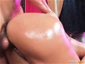 Oiley Mercedes Carrera nailed ginormous time by enormous shaft