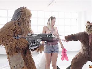Spanish breezy Yuno enjoy gets ravaged by Chewbacca, Yoda and an ewok
