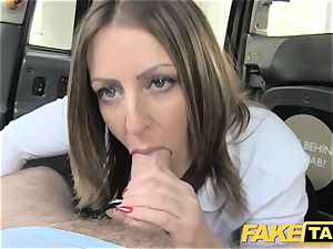 fake taxi office gal in stockings anilingus anal invasion romp