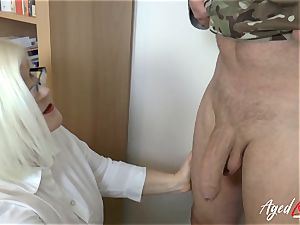 AgedLovE Lacey Starr nailing rock hard with Soldier
