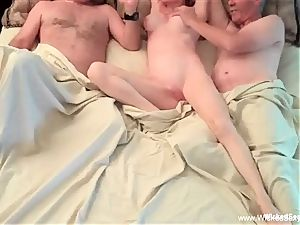 Intoxicating 3 way With unexperienced GILF