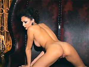 slim puny Ariana Marie fantastic rubber solo onanism