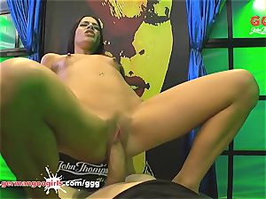 uber-sexy Eveline Dellai ass-fuck destroyed in Germany GGG