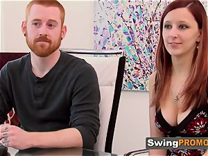 ginger-haired duo engages in torrid pre soiree act in their apartment
