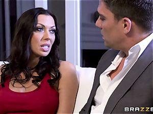 Rachel Starr screwing her hubbies super-hot suited boss