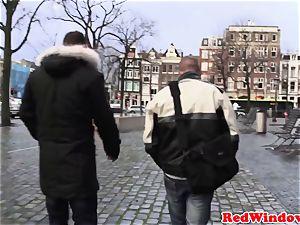 Amsterdam hooker gets cumshowered
