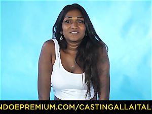 audition ALLA ITALIANA - Indian stunner gets giant prick buttfuck