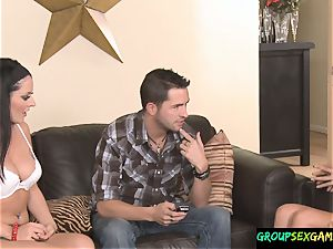 flapping honey penetrated doggy style In nasty Game