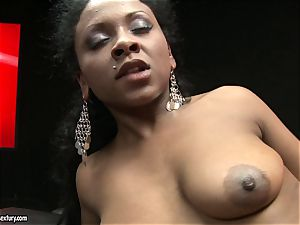 rough Kathia Nobili shoves her cord on prick deep down her accomplice throat