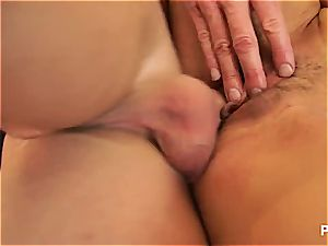 Kristal ending up with cum in her cougar honeypot