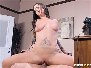 Felicity Feline plumbed deep in her pussyhole