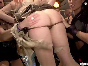 Carla Cox, Tarra milky and Nessa satan sex fuck-fest stiff