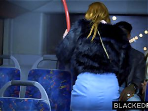 BLACKEDRAW two hotties smash gigantic big black cock On Bus!