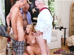 elderly entices youthful Frannkie And The group Tag crew A Door To Door Saleswoman