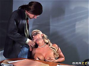 Phoenix Marie getting splattered with jizz by Danny D