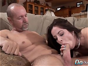 Karas hubby watches her takes large trouser snake