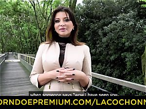 LA COCHONNE - cum in mouth and dp for Anna Polina