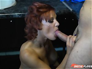 insane cop Lou Lou romps in the work shower