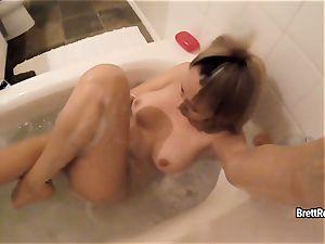 CrushGirls - Brett Rossi wanks in bubble bath