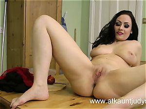 Sophia Delane looks warm in her undergarments