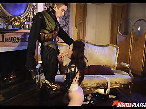 Tina kay has gigantic load on her sumptuous nice face from frankenstein