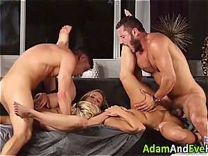 erotic duo and jizm swap with super-fucking-hot blondes