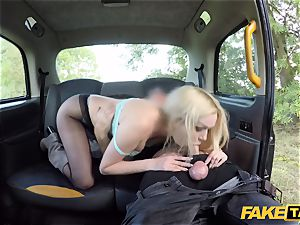 faux taxi british light-haired cutie Amber Jayne