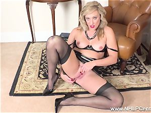 towheaded finger pummels raw slit in girdle vintage nylons