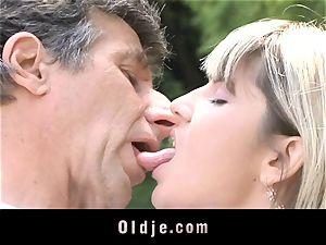 Gina Gerson gets anal invasion from an elderly boy
