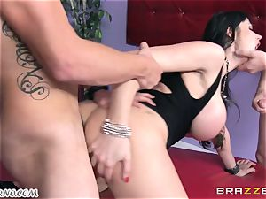 drunk cougar Eva Karera with immense breasts indulges on the party