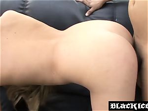 insatiable big black cock fucky-fucky in nature fills the realm with moans