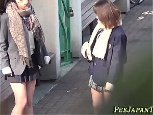 asian schoolgirls pee
