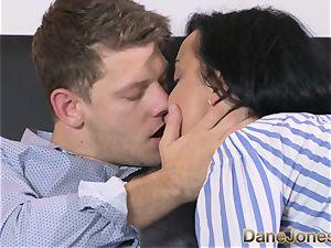 Dane Jones horny dark-hued haired Russian has creampie