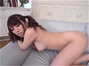 Chisa Hoshino gives head in point of view then tears up hard - More at JavHD.net