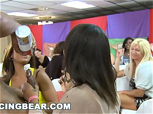 CFNM Bachelorette party with the gigantic pecker Dancing bear
