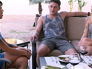Fit duo searches for a 3rd member to engage in a super-hot three way with