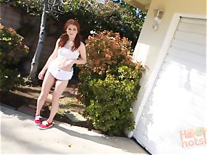 ginger-haired Alice Green meets up for an ass-fuck filling